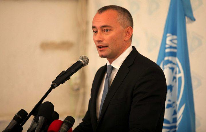 ملادينوف يُغادر قطاع غزة  بعد زيارة استمرت ساعات