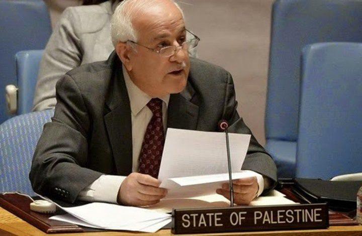 منصور يبعث رسائل متطابقة لمسؤولين أمميين حول الأوضاع بفلسطين