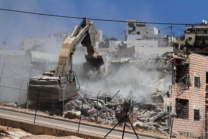 """الاحتلال هدم 3300 مسكن في مناطق """"ج"""" خلال الستة أعوام الماضي"""