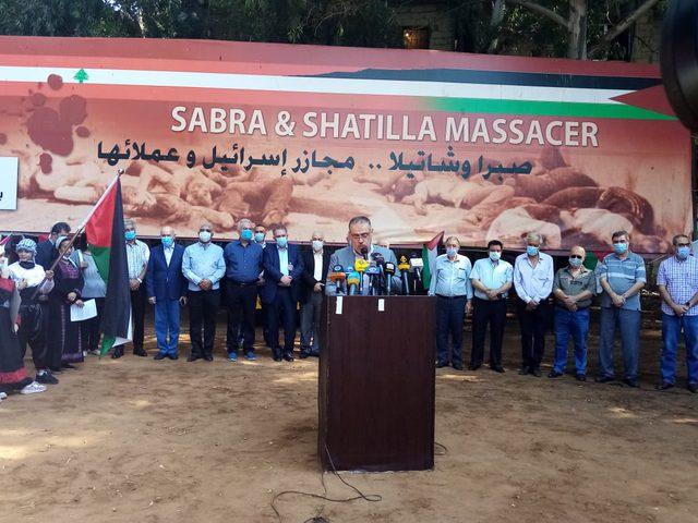شعبنا في لبنان يُحيي ذكرى مجزرة صبرا وشاتيلا في بيروت