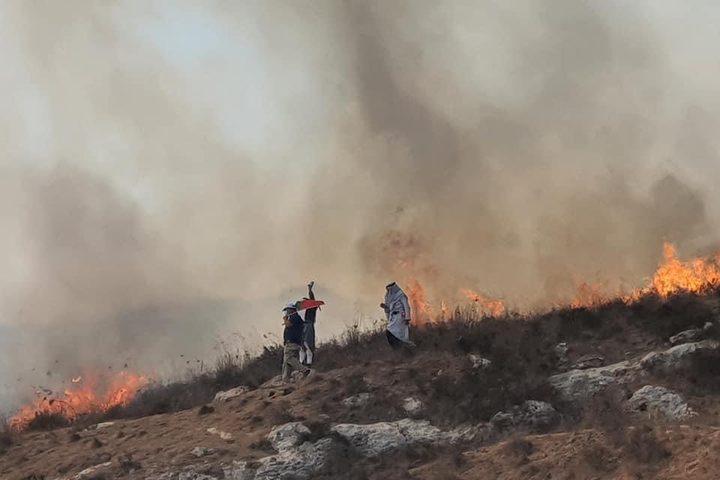 الاحتلال يطلق قنابل الغاز على المشاركين بفعالية وطنية جنوب نابلس