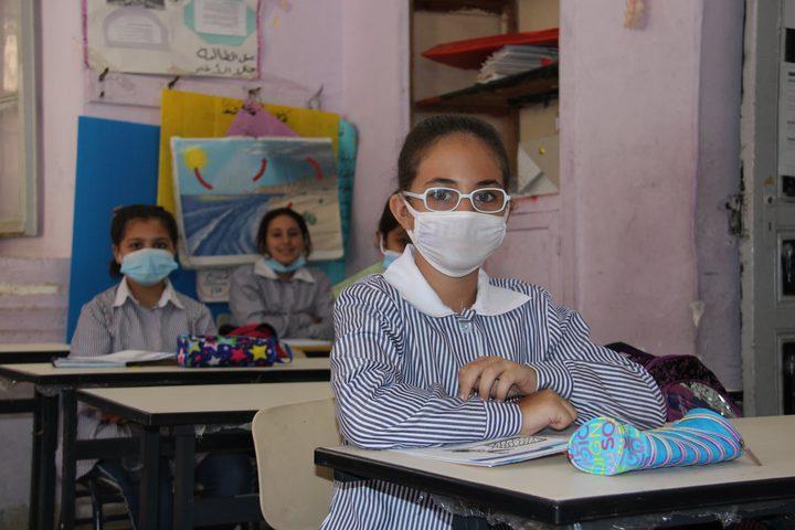بداية العام الدراسي في مدرسة عمر المختار الاساسية للبنات بنابلس