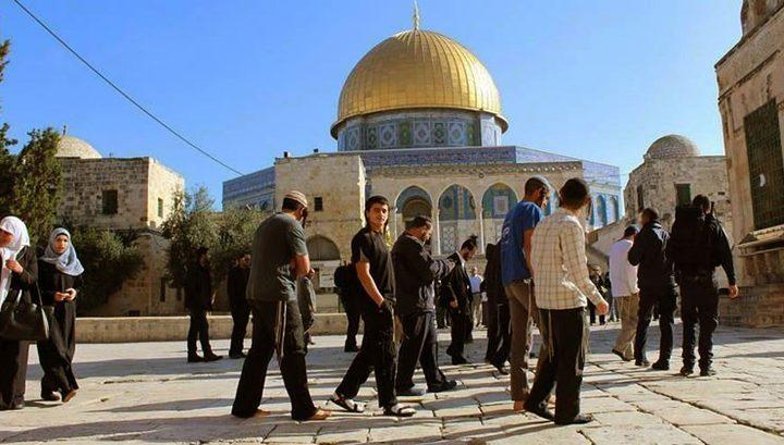 اغلاق باب المغاربة بعد اقتحام مستوطنين المسجد الاقصى