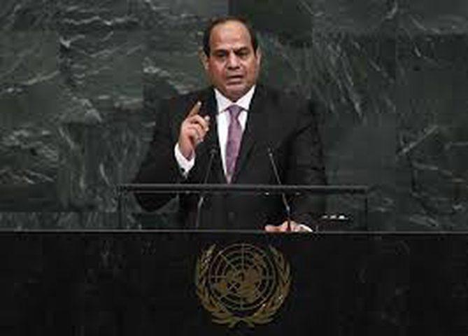 السيسي يطالب بتحقيق طموحات الشعب الفلسطيني في إقامة دولته