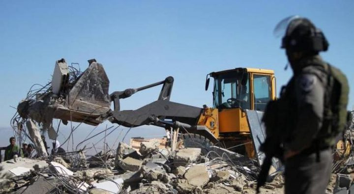 بيت لحم: الاحتلال يهدم جدرانا استنادية بقرية بتير