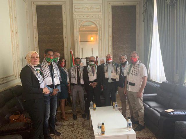 الفرا يستقبل وفدا ممثلا عن الجاليات والفعاليات العربية في بلجكيا