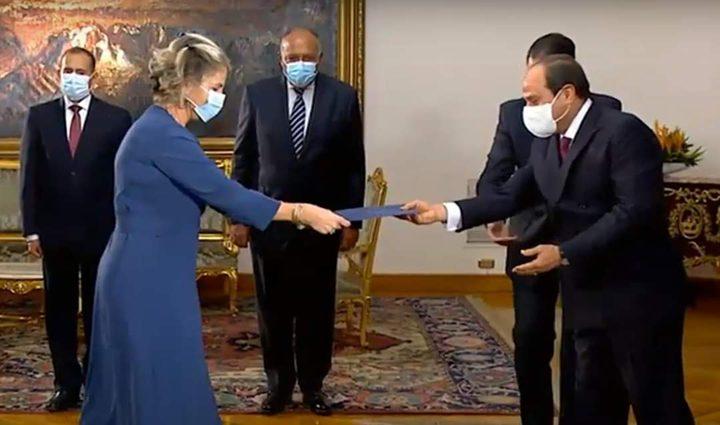 القاهرة: أول سفيرة لإسرائيل تقدم أوراق الاعتماد للسيسي
