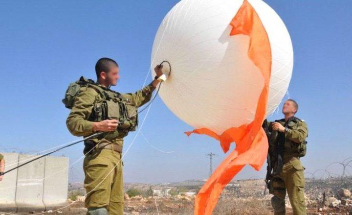 الاحتلال يطلق منطادا للمراقبة جنوب بيت لحم