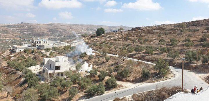 الاحتلال يقمع فعالية لحراثة أراض مهددة بالمصادرة جنوب نابلس