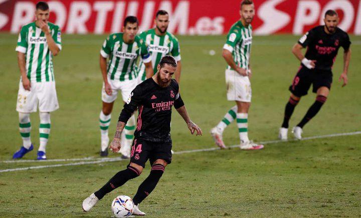 راموس يهدي ريال مدريد أول انتصار في الليجا على بيتيس