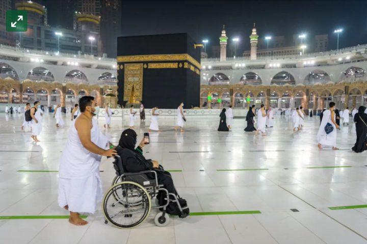 وصول أول وفود المعتمرين إلى المسجد الحرام