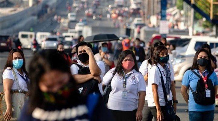 100حالة وفاة و 3190 إصابة جديدة بفيروس كورونا في الفلبين