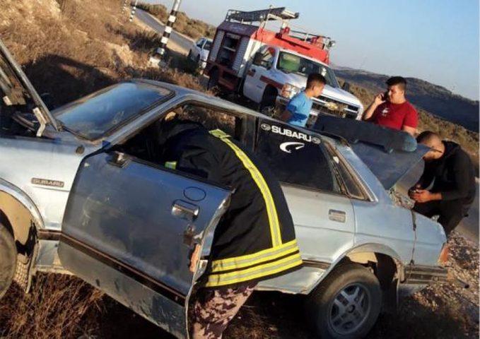 إصابة 4 مواطنين في حادث سير قرب يعبد