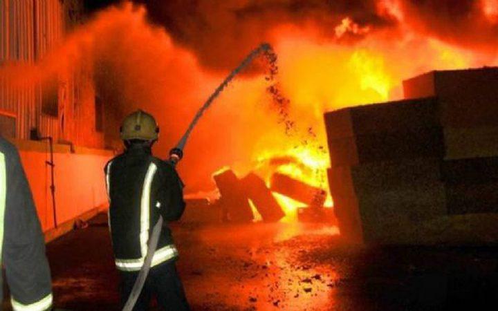 اندلاع حريق قرب مصنع أخشاب في سلفيت