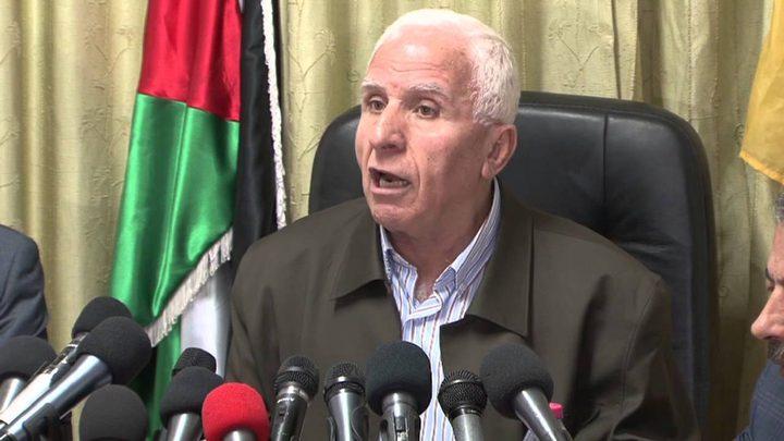 الأحمد: اجتماع هام للقيادة الفلسطينية اليوم وآخر للتنفيذية الأحد