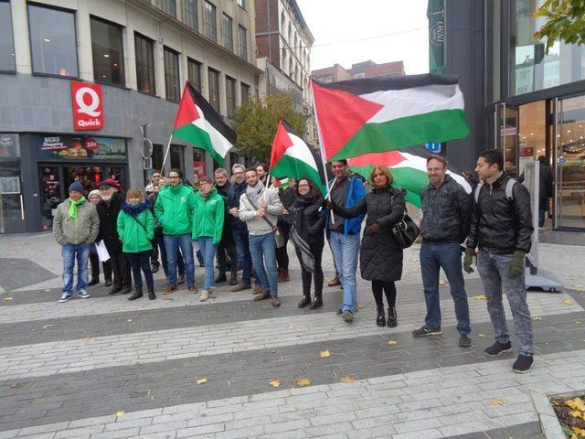 بروكسل: وقفة احتجاجية رفضاً للتدخلات الأميركية بالشعب الفلسطيني