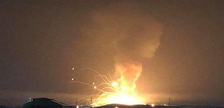 """انفجار خزان """"مازوت"""" في العاصمة اللبنانية بيروت"""