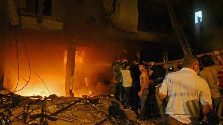 """ارتفاع عدد ضحايا انفجار خزان """"مازوت"""" في بيروت"""