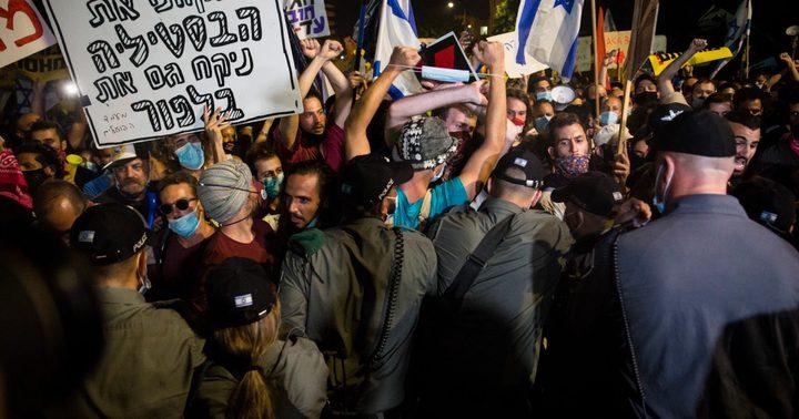 شرطة الاحتلال تواصل قمعها للمظاهرات ضد نتنياهو