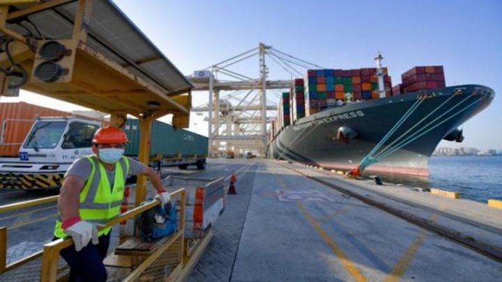 """""""إسرائيل"""" تعلن وصول أول سفينة إماراتية إلى ميناء حيفا"""