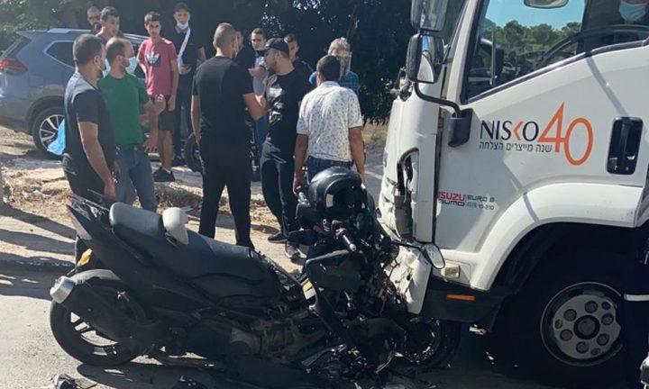 طمرة: إصابة حرجة في حادث سير