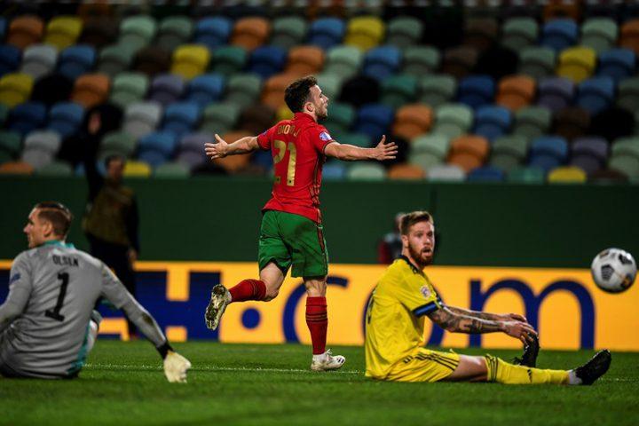 بديل رونالدو يقود البرتغال للفوز على السويد بثلاثية