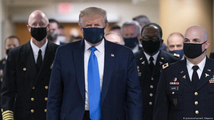 ترامب: 85% من الذين يرتدون الكمامات يصابون بكورونا