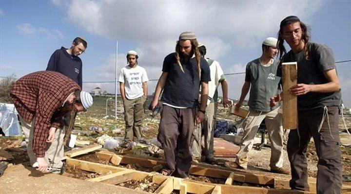 مستوطنون يقيمون حظيرة مواشي في الأغوار