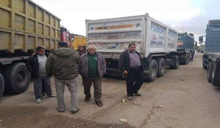 سعد: نسبة البطالة بين سائقي الشاحنات بالضفة وصلت لـ90%
