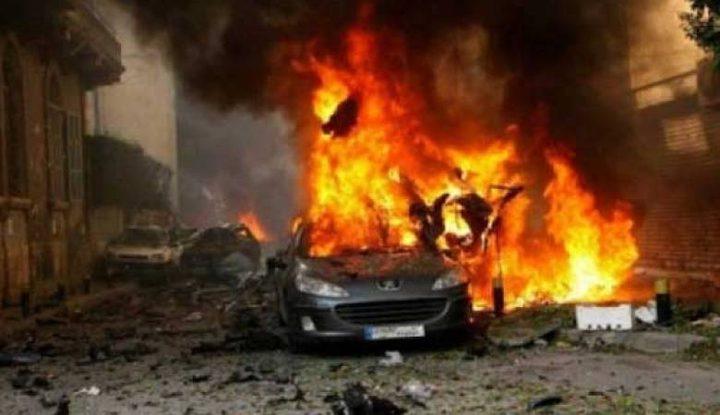 انفجار سيارة بعد استهدافها بعبوة ناسفة في الناصرة