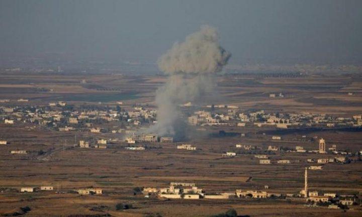 طائرات الاحتلال تقصف مدرسة بريف القنيطرة