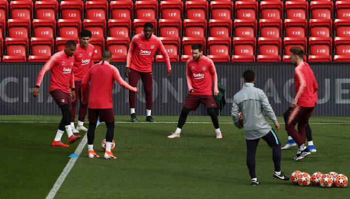 برشلونة يستعد لمواجهة غريمه ريال مدريد