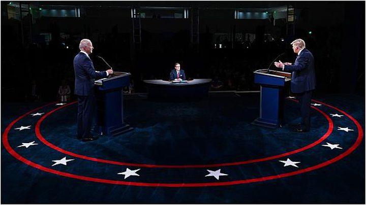 اتهامات متبادلة بين ترامب وبايدن في المناظرة الأخيرة