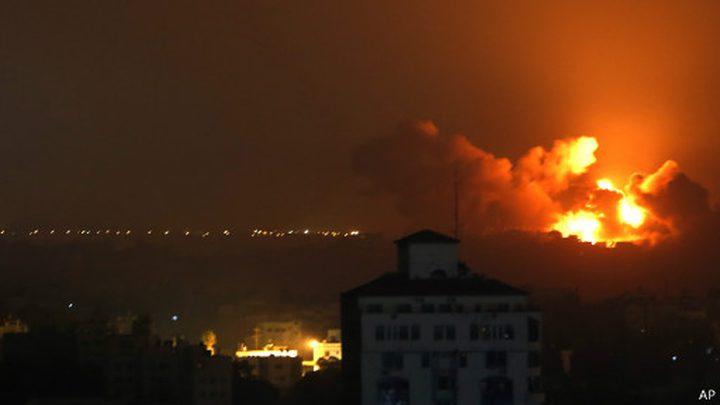 طائرات الاحتلال تقصف مواقع للمقاومة في غزة