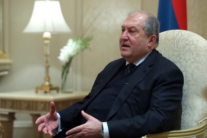 رئيس أرمينيا يرحب بالدور الروسي في تسوية نزاع قره باغ
