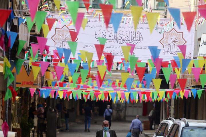 اجواء الاحتفال بالمولد النبوي في مدينة نابلس