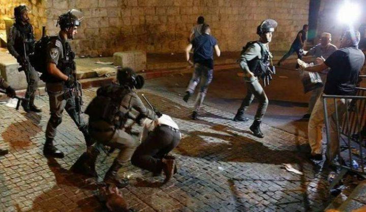 قوات الاحتلال تعتدي على المواطنين قرب باب العامود