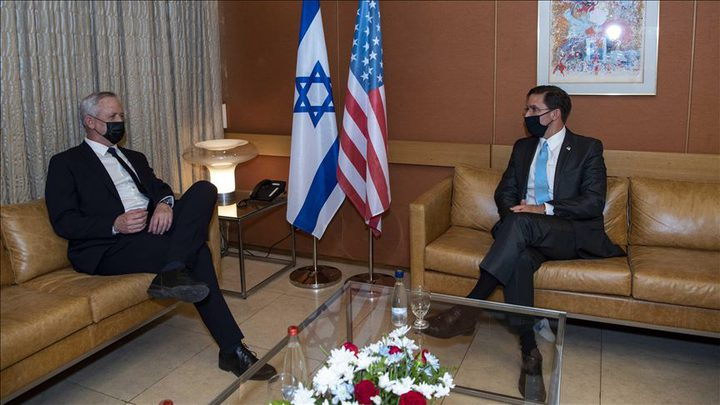 """وزير الدفاع الأمريكي يجري مباحثات """"بإسرائيل"""" لضمان تفوقها العسكري"""