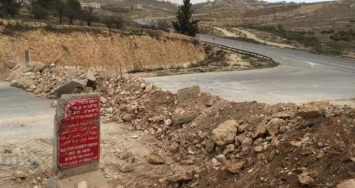 نابلس: الاحتلال يخطر بتجريف طريق فرعي في قرية عصيرة القبلية