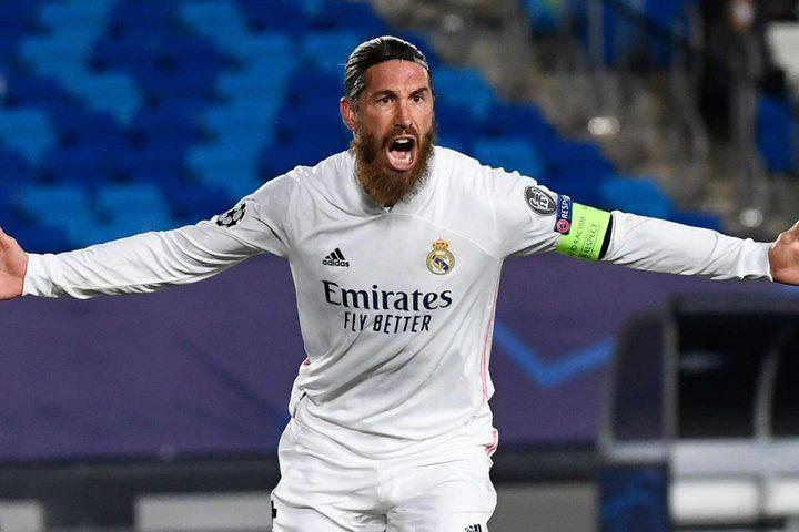 سرجيو راموس يصل للهدف رقم 100 بقميص ريال مدريد