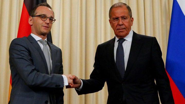 لافروف وماس يؤكدان على ضرورة الحوار بين طرفي النزاع في أوكرانيا