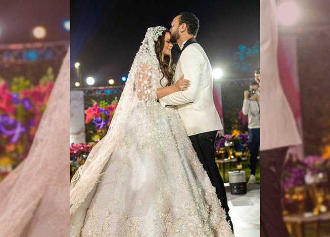 الصور الأولى من حفل زفاف هنادي مهنا وأحمد خالد صالح