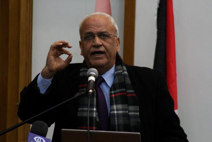 شؤون المفاوضات: فلسطين تفتقد بوفاة عريقات مقاوما وطنيا عنيدا