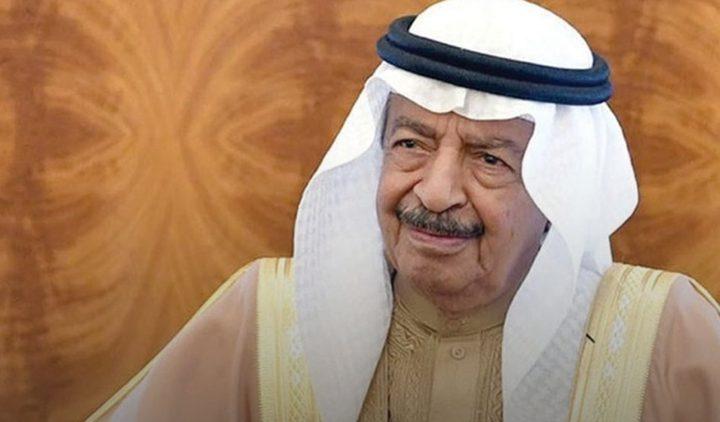 وفاة رئيس وزراء البحرين خليفة بن سلمان