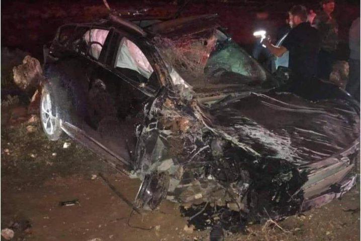 مصرع شاب وإصابة آخريّن بحادث سير جنوب نابلس