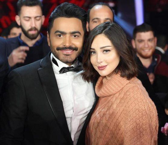 بسمة بوسيل تحذف خبر انفصالها عن الفنان تامر حسني