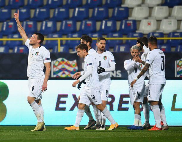إيطاليا تتأهل لنصف نهائي دوري الأمم الأوروبية