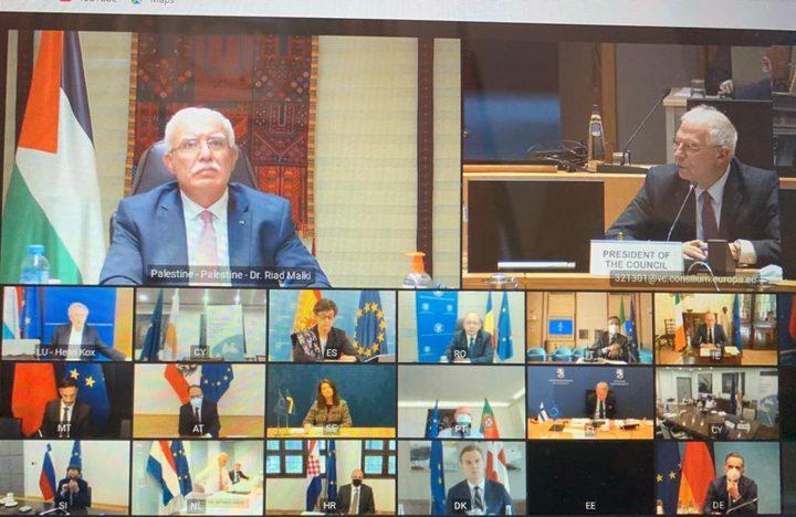 المالكي يطلع الاتحاد الأوروبي على آخر المستجدات السياسية