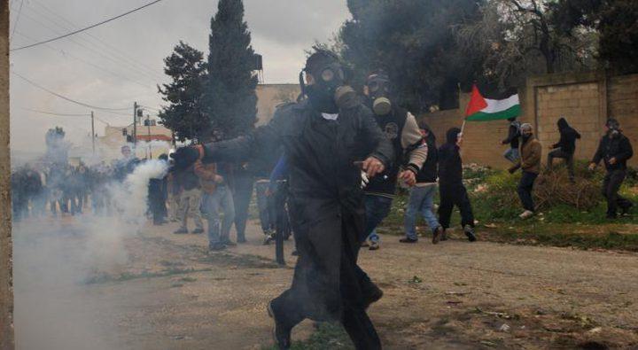 إصابات بالرصاص المعدني الاختناق خلال قمع الاحتلال مسيرة كفر قدوم