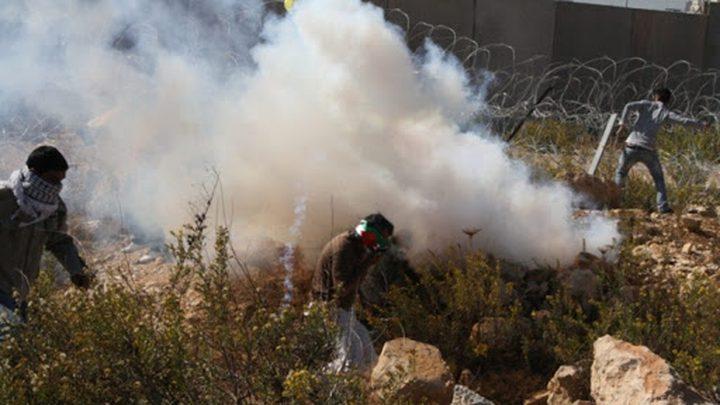 إصابات جراء قمع الاحتلال مسيرة في بيت دجن شرق نابلس